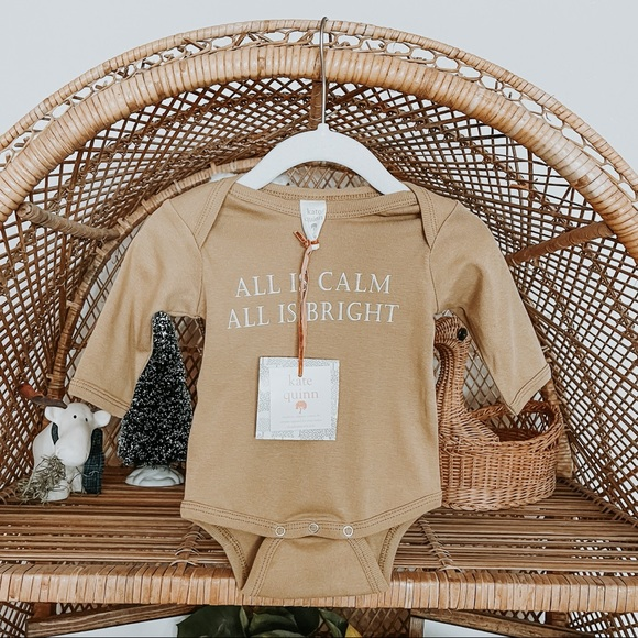 All is calm all is bright holiday onesie